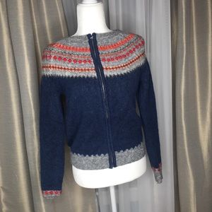 GAP Mohair Blend Winter Pattern Sweater